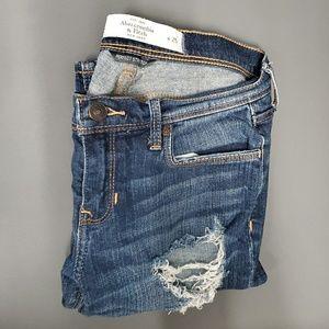 Distressed A&F Perfect Stretch Skinny Jeans